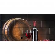 Декор Брик 1 Вино глянцевый