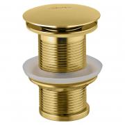 Донный клапан для раковины Click-Clack, золото