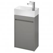 Шкафчик для раковины Crea 40 матовый серый