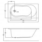 Акриловая ванна Nike 150x70 с ножками