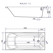 Ванна Nao 160x70