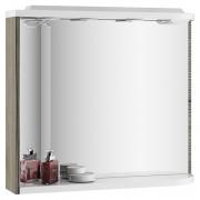 Зеркало Rosa M 780 левое, капучино/белое