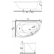 Акриловая ванна Promise 150 L