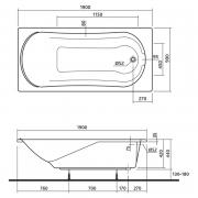 Акриловая ванна Comfort 190x90