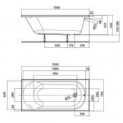 Ванна Opal Plus 170x70