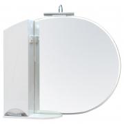 Зеркало Глория 95 см, белое