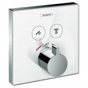 Верхняя часть термостата Shower Select, белое стекло