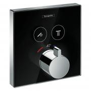 Верхняя часть термостата Shower Select, черное стекло