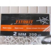 Крестики для кафеля, 2 мм (200 шт)