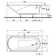 Акриловая ванна Comfort 170x75